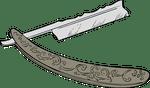 dessin rasoir couteau